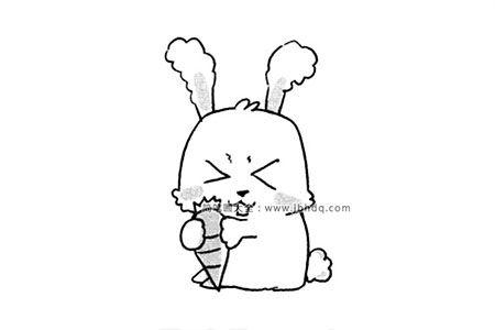 调皮的兔子简笔画图片