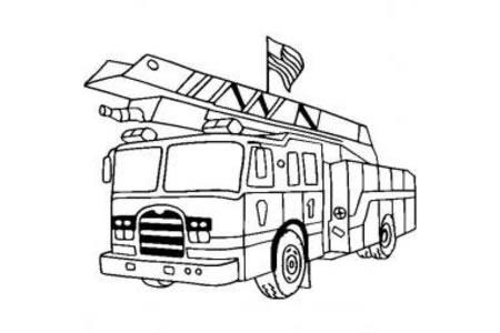消防车图片 简单的消防车画法