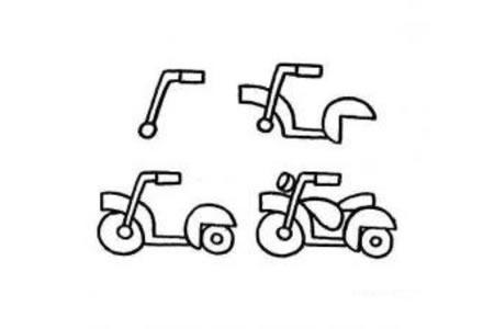 幼儿摩托车简笔画画法