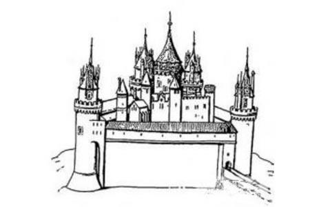 建筑图片 美丽的城堡简笔画图片