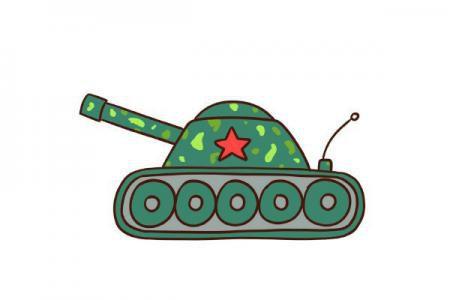 画坦克的简笔画步骤图