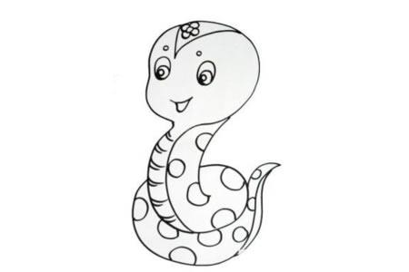 十二生肖蛇的简笔画图片