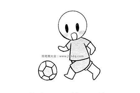 踢足球人物简笔画