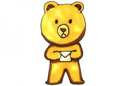 儿童轻松学画卡通小熊