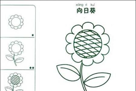 儿童向日葵简笔画图片的画法