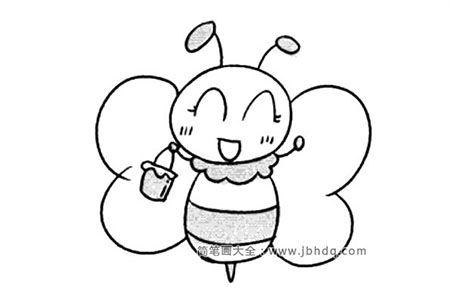 卡通蜜蜂简笔画图片