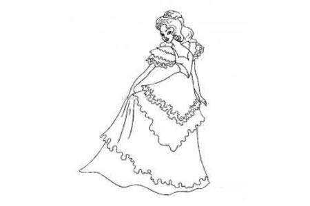 贝尔公主简笔画