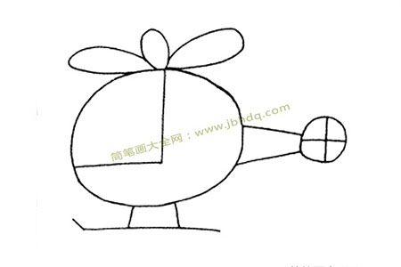 简单的直升机简笔画教程