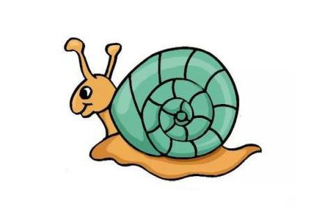 蜗牛简笔画的画法