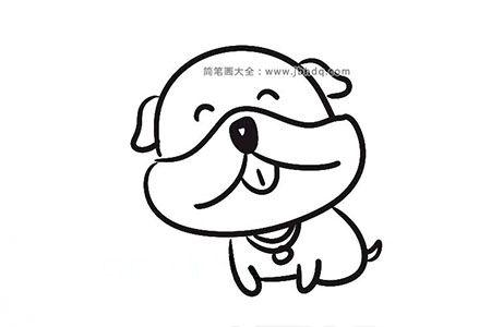 9张漂亮的狗狗简笔画图片