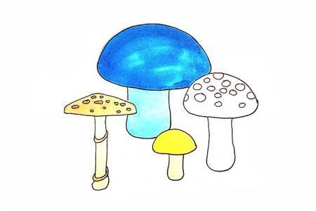 一组蘑菇简笔画教程