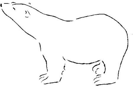 北极熊轮廓的画法