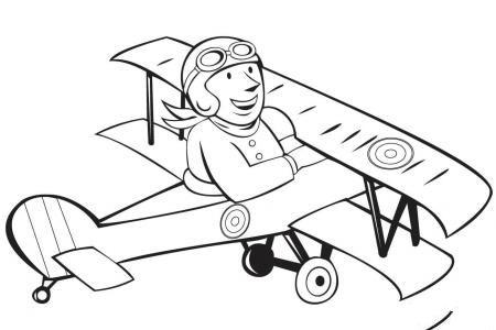 法国双翼飞机和飞行员