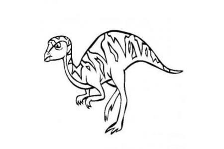 恐龙图片大全 雷利诺龙简笔画图片
