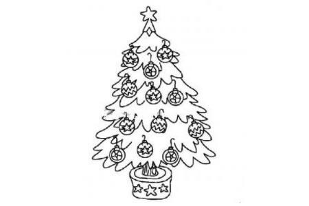 挂满铃铛的圣诞树