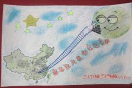 欢庆中秋节儿童绘画-难忘十五月圆时