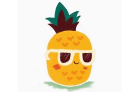 儿童画教程 菠萝的简笔画画法