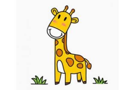 可爱长颈鹿简笔画画法