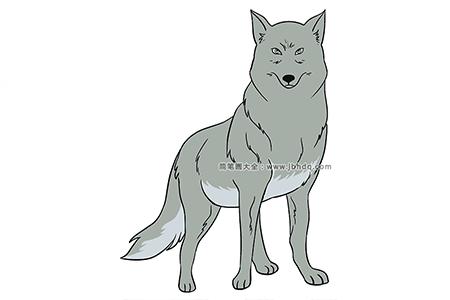 凶猛的狼简笔画图片
