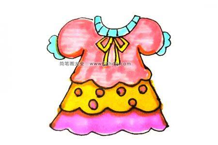 学画漂亮的花裙子