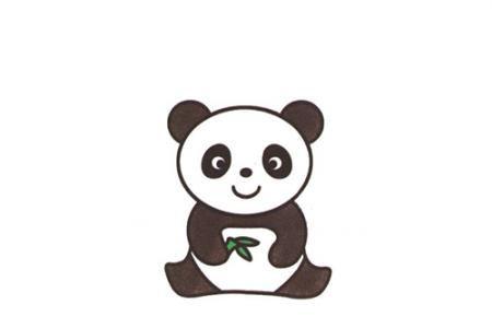 简单的动物简笔画 熊猫