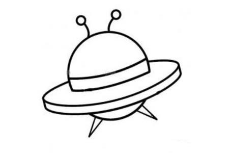 外星飞船简笔画图片