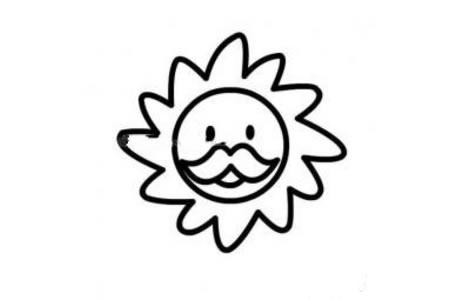 太阳公公简笔画