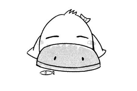 卡通鸭子简笔画图片