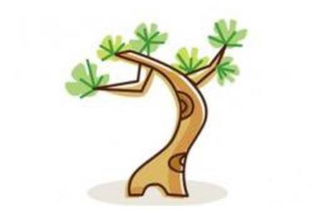 儿童大树简笔画松树的画法