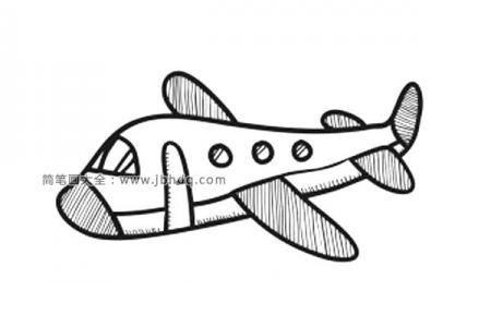 可爱的小飞机简笔画图片