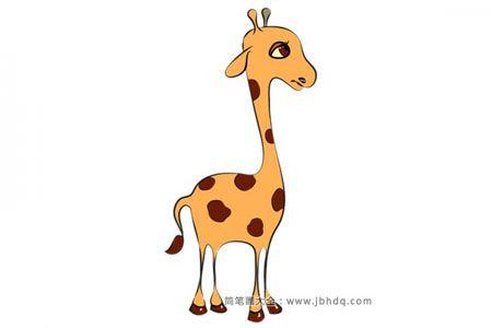 可爱的小长颈鹿简笔画图片