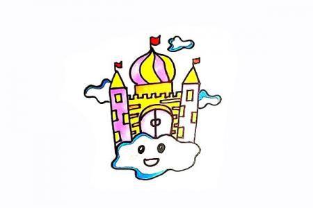 空中城堡怎么画
