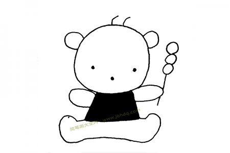 小熊拿着糖葫芦
