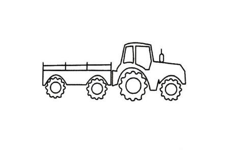 拖拉机简笔画大全及画法步骤