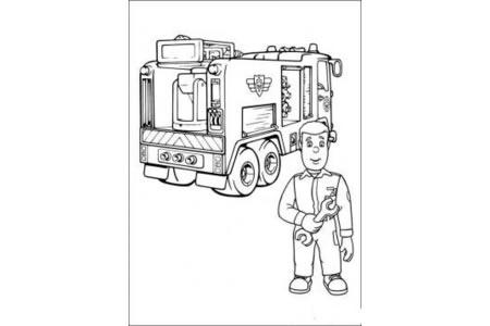 消防车的画法 消防车简笔画图片