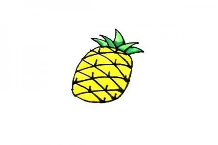 菠萝怎么画