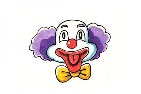 学画小丑简笔画
