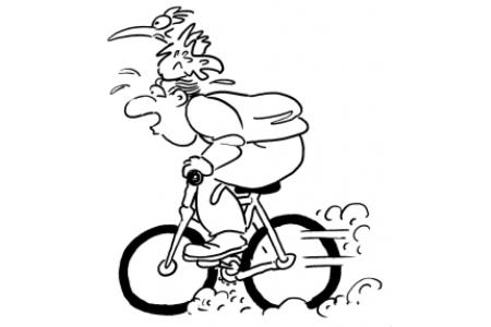 快速骑自行车