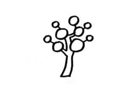 大树的简笔画画法