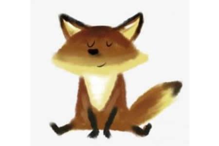 儿童画教程 狐狸简笔画步骤图