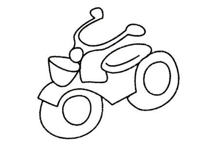 摩托车简笔画大全及画法步骤