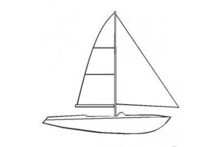幼儿简笔画图片 简单的帆船简笔画