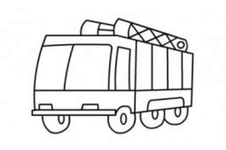 消防车的绘画步骤