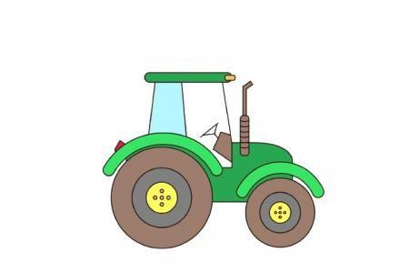 大型拖拉机简笔画【附画法步骤图】