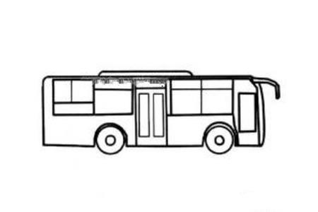 城市公共汽车简笔画图片