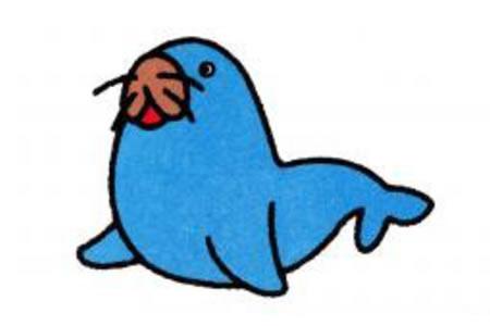 海豹简笔画画法