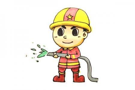 学画消防员