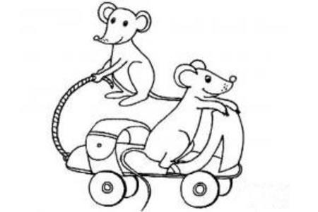 调皮的老鼠简笔画