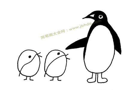 企鹅妈妈和小企鹅