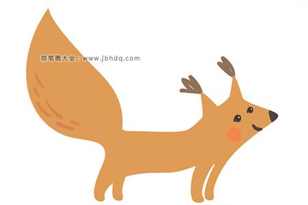 可爱松鼠简笔画图片